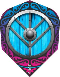Shot Branded Std.6 Flight Viking Shield Maiden | Darts Warehouse
