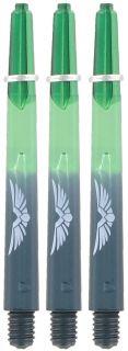 Shot! Eagle Claw Green Black Medium Shaft | Darts Warehouse