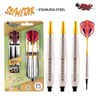 Scimitar Stainless Steel 18g Softtip Value Range   Darts Warehouse