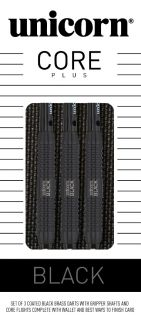 Core Plus Black Brass Unicorn Dartpijlen | Darts Warehouse