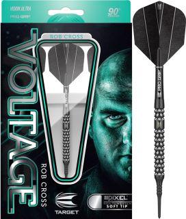 Rob Cross Voltage 90% Black Pixel Target Softtip Darts | DartsWarehouse