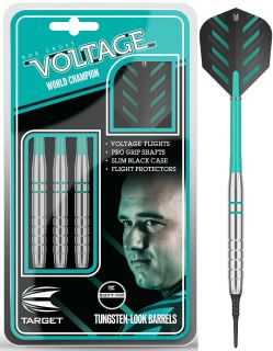 Softtip Rob Cross Voltage Silver Brass 18 gram | Darts Warehouse