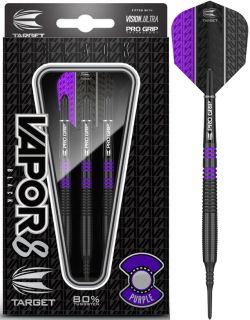 Vapor8 Black Purple 80% Softtip Darts | DartsWarehouse