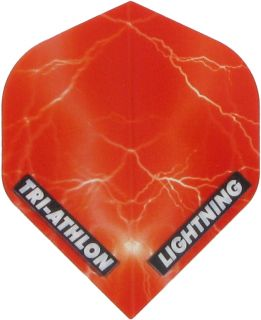 Triathlon Lightning Std. Clear Red | Darts Warehouse