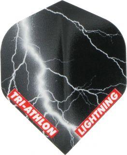 Triathlon Lightning Std. Black | McKicks Flights | Darts Warehouse
