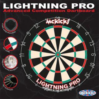 McKicks Lightning Pro Dartboard | Darts Warehouse