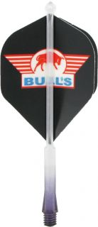 X-Ray Sidewinger Black Medium Bulls Shafts | Darts Warehouse